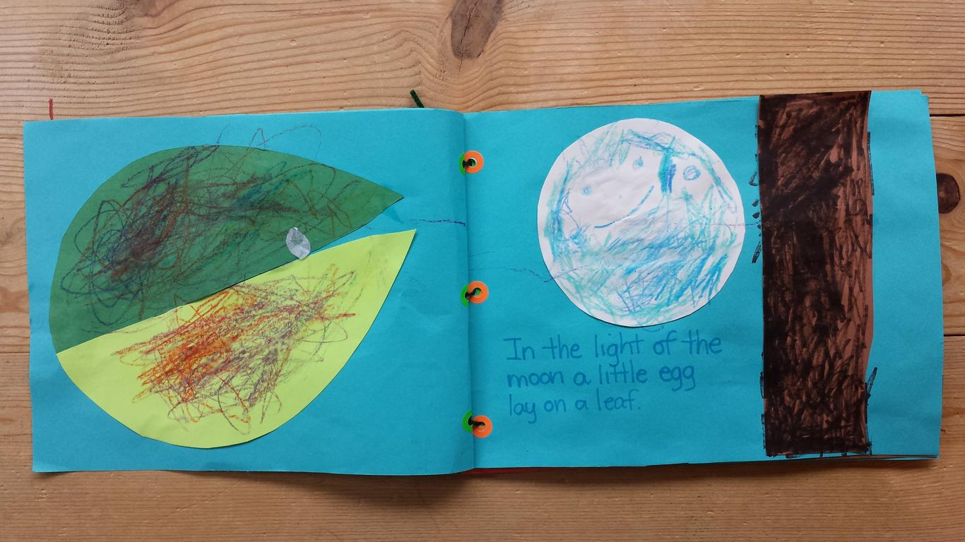 Children turn a favorite story into their own book