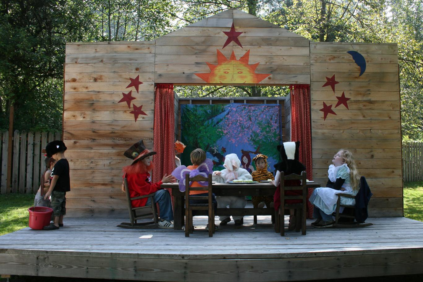 An outdoor theatre is a perfect place for children to put on their own performances