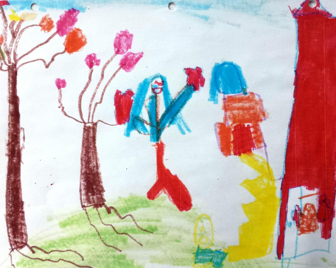 Child's drawing of a person