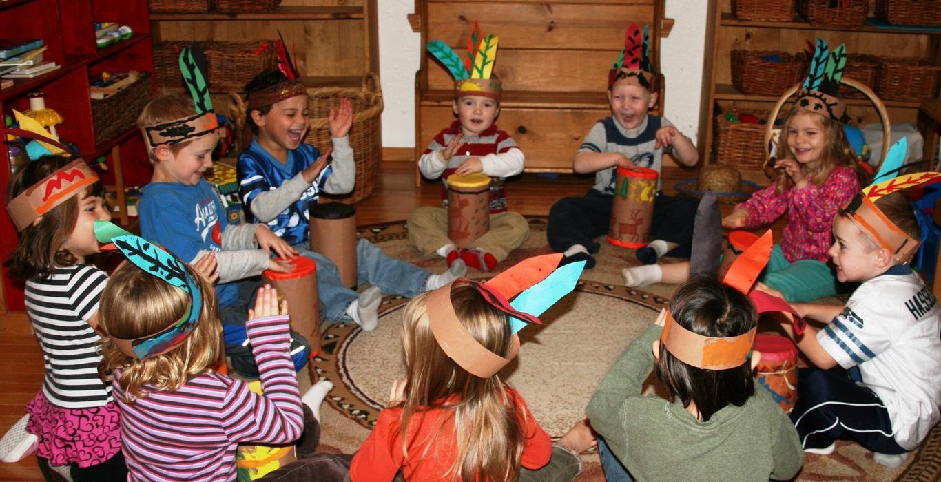 Children learn new skills in the Village Learning preschool circle