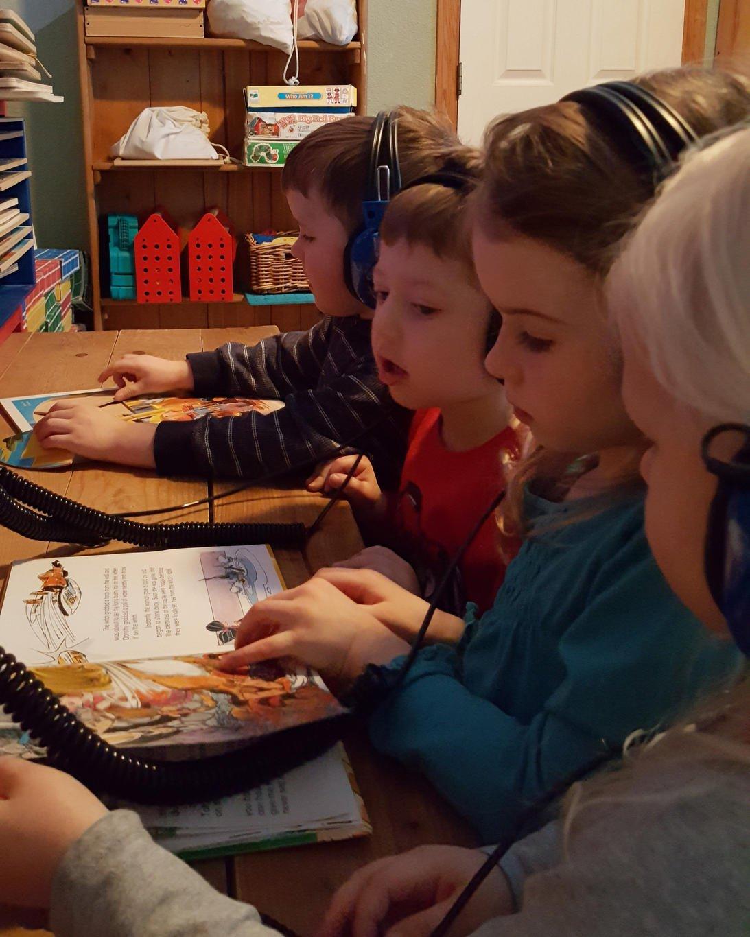 Indoor learning station at Golden Gate Preschool